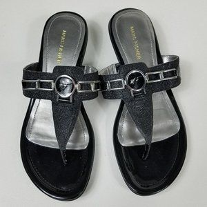 Marc Fisher Amina Flip Flop Sandals Size 9.5 Black